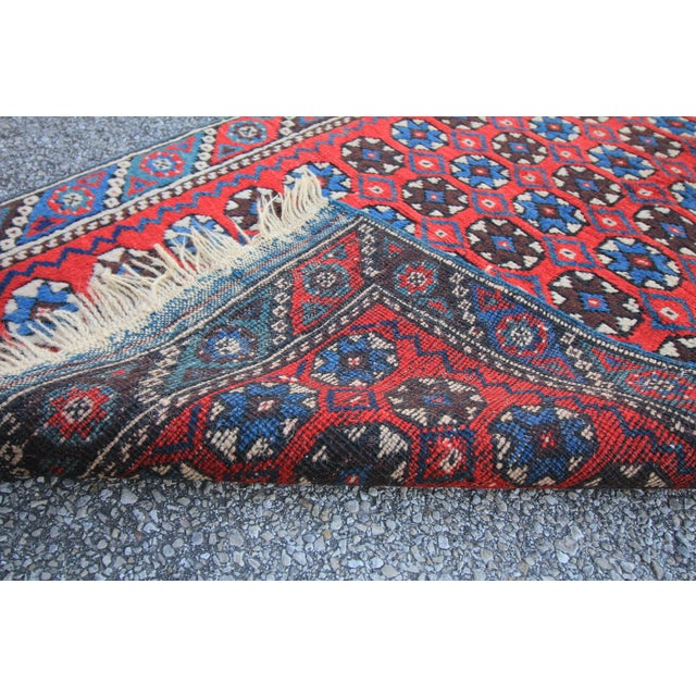 """Antique Tribal Oushak Hand Knotted Turkish Rug - 2'5"""" X 3'8"""" For Sale - Image 5 of 5"""