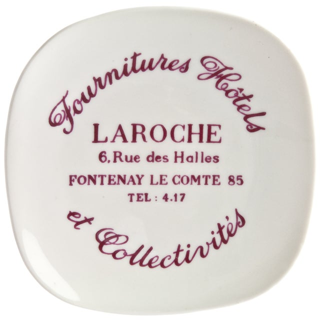 Vintage French La Roche Porcelain Ashtray - Image 1 of 4