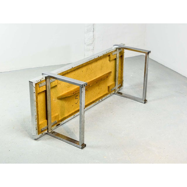 Gold Artistic Mid-Century Belgium Design Egyptian Decorated Coffee Table by De Nisco, 1970s For Sale - Image 8 of 10