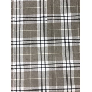 Thibaut Percival Plaid Neutral Woven Multipurpose Fabric For Sale