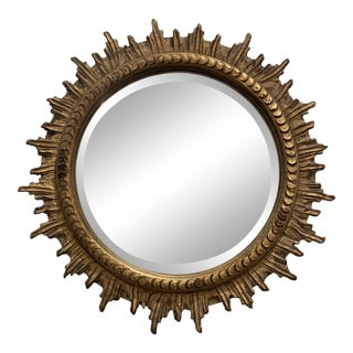 Vintage Sunburst Wall Mirror For Sale