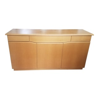 Contemporary Blonde Wooden Cabinet For Sale