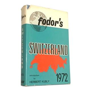 1972 Fodor's Switzerland Guide Book For Sale