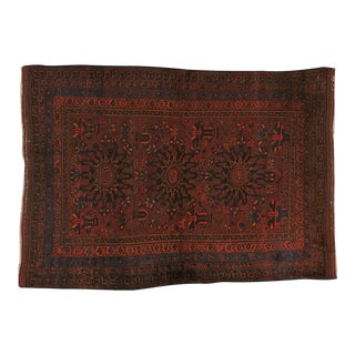 """Vintage Persian Baluch Rug - 4' X 5'6"""""""