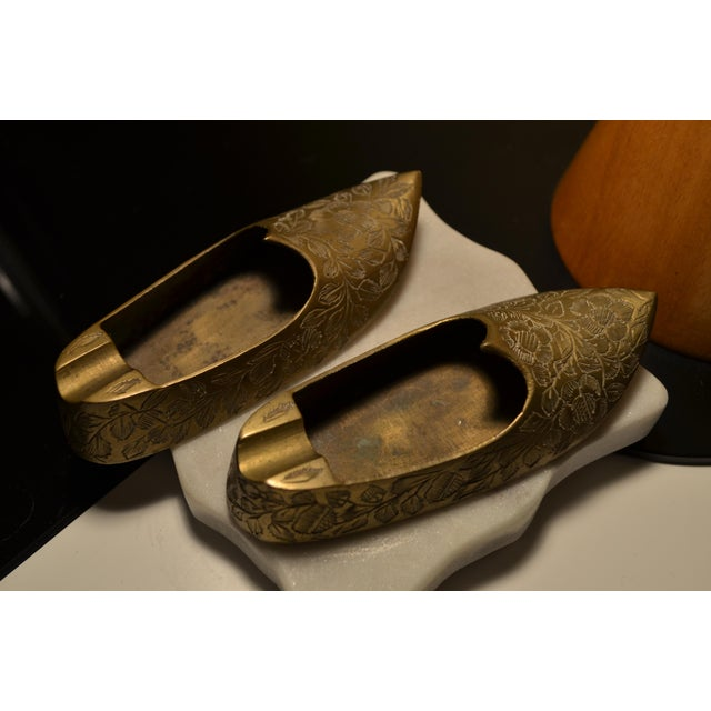 Indian Brass Slippers - A Pair For Sale - Image 5 of 5