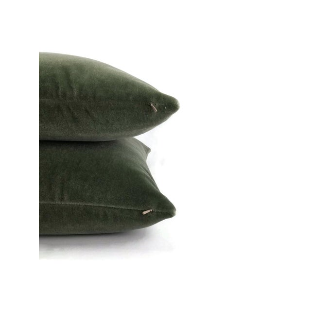 Not Yet Made - Made To Order F. Schumacher San Carlo Mohair Velvet in Moss Pillow Cover For Sale - Image 5 of 7