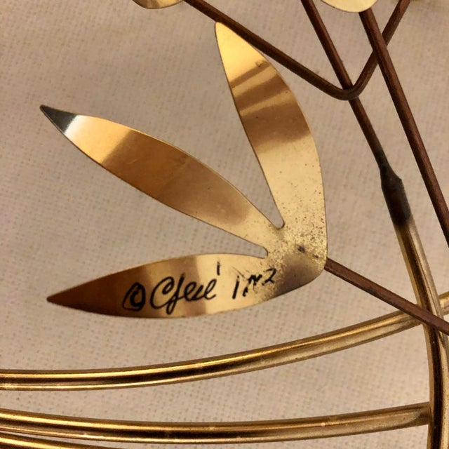 """Curtis Jere Signed C. Jere Brass """"Willow Branch"""" Sculpture For Sale - Image 4 of 9"""