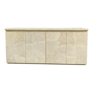 1980s Postmodern Italian Style Mosaic Ivory Sideboard For Sale