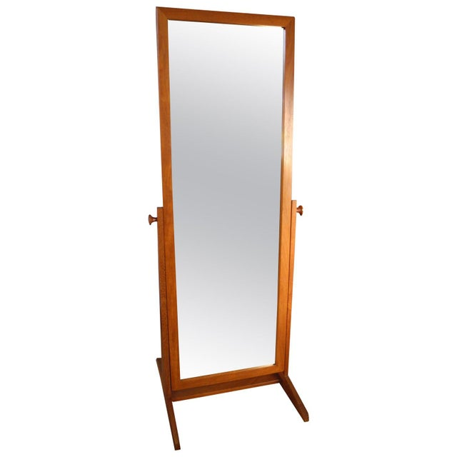 Vintage Danish Modern Teak Full Length Floor Mirror by Pedersen & Hansen For Sale - Image 13 of 13