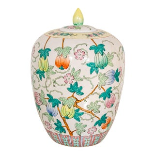 Chinese Style Porcelain Ginger Jar For Sale