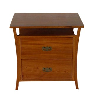 Asian Style Elm Wood Nightstands