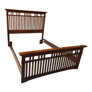 Broyhill Mission Queen Bedframe For Sale