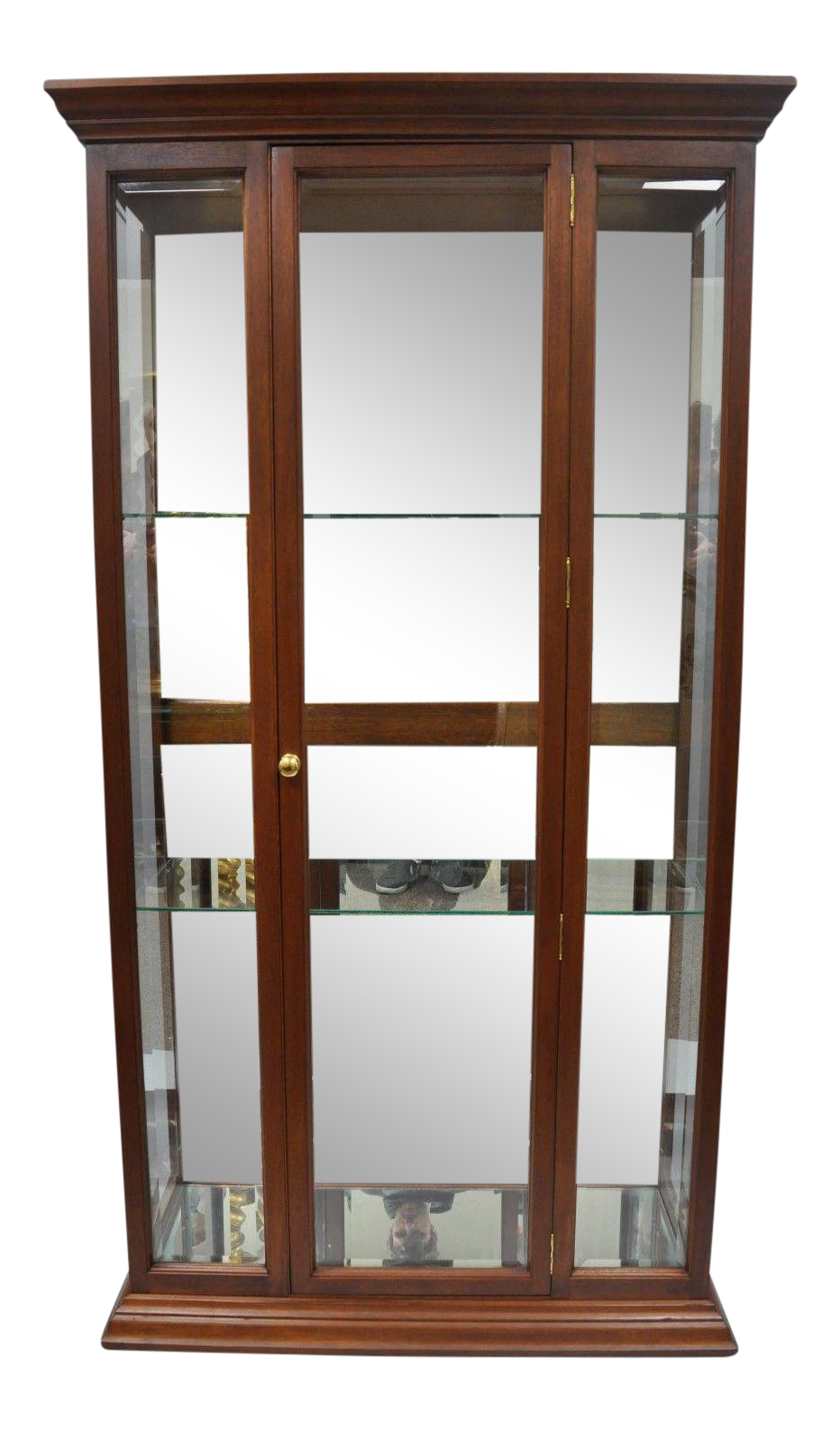 hardware on kitchen cabinets mahogany wood amp mirror glass display curio china cabinet 16219