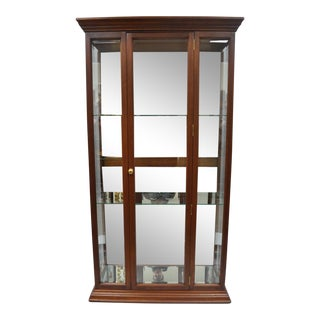 Mahogany Wood & Mirror Glass Display Curio China Cabinet