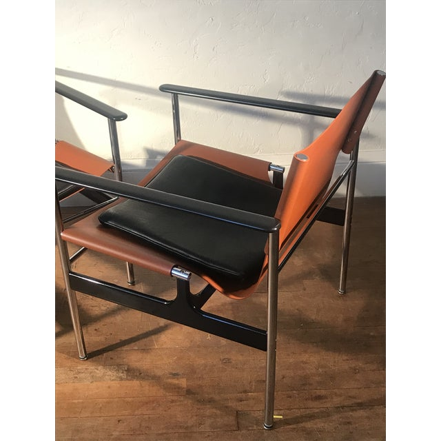 Charles Pollock for Knoll 657 Sling Lounge Chairs- a Pair For Sale - Image 11 of 12