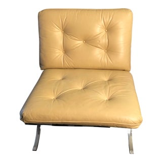 Mid Century Modern Selig Barcelona Style Lounge Chair For Sale
