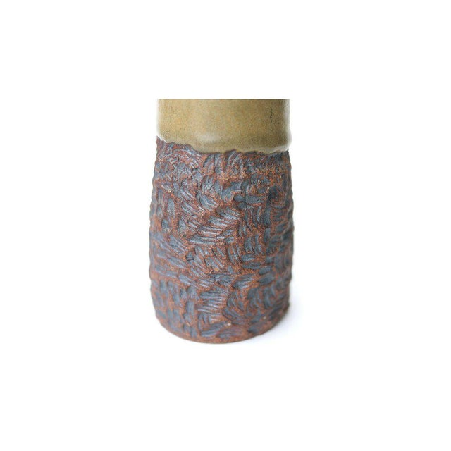Arts & Crafts Mid-Century Stoneware Vase For Sale - Image 3 of 4