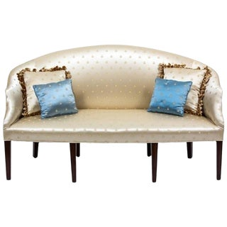 George III Style Mahogany Upholstered Settee, Early 20th Century For Sale
