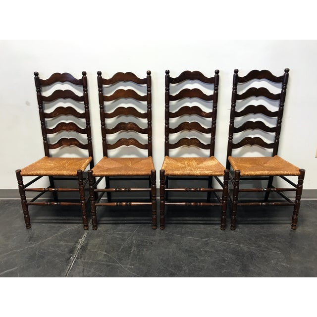 Tell City Vintage Ladder Back Dining Chairs - Set of 4 - Image 11 of 11