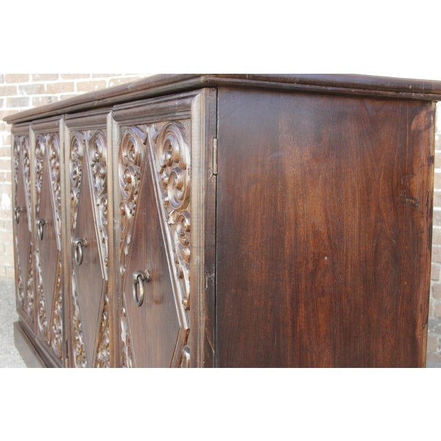 Spanish Colonial Carved Sideboard - Image 7 of 9