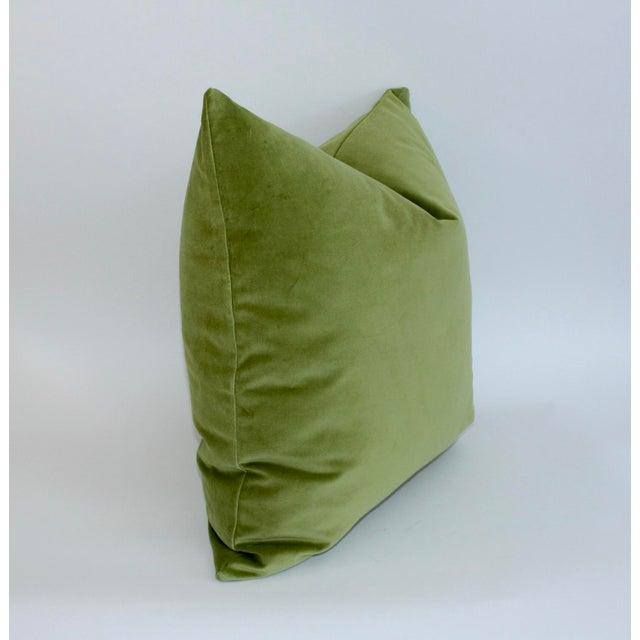 Apple Green Velvet Pillow - Image 3 of 3