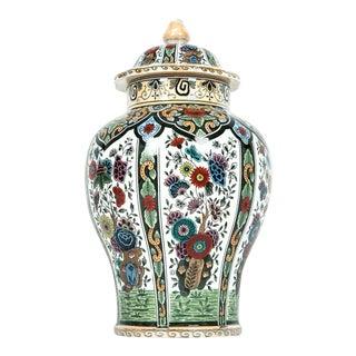 Dutch Porcelain Vintage Covered Urn For Sale