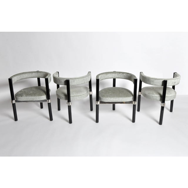 Industrial 1960s Hungarian Round Back Chairs - Set of Six For Sale - Image 3 of 11