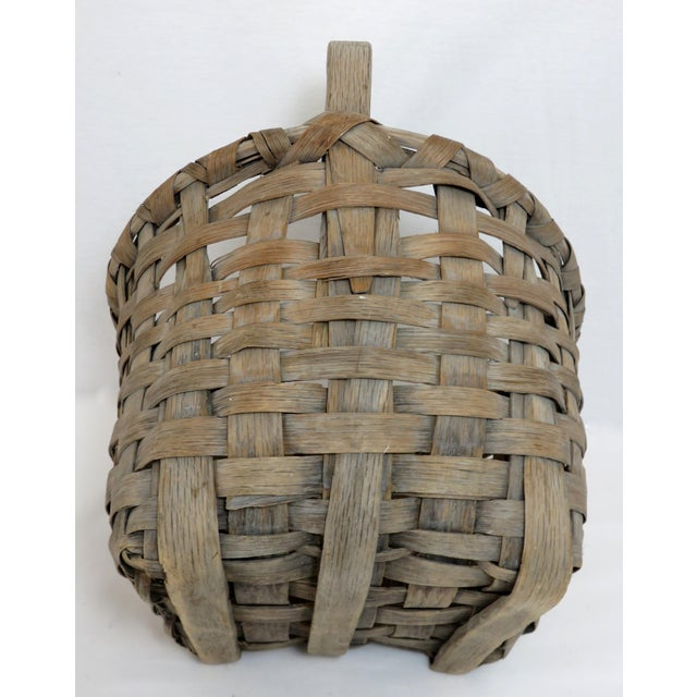 1900s Country Style Gray Basket For Sale - Image 10 of 13