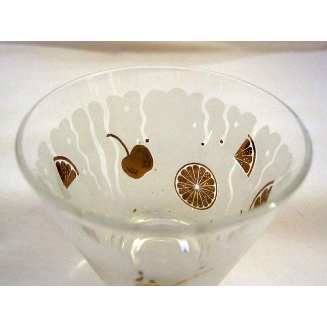Mid-Century Gold & White Juice Glasses - Set of 8 For Sale In New York - Image 6 of 6