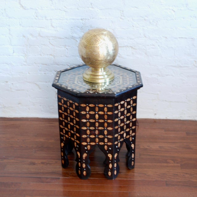 Moroccan Bone Inlaid Side Table For Sale - Image 4 of 4