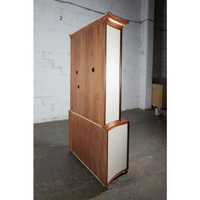 Art Deco Neoclassical Mahogany and Faux Parchment Media Cabinet For Sale - Image 3 of 13