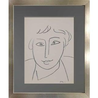 Henri Matisse Lithograph Original Signed Limited Ed. 237 W/Custom Archival Frame For Sale