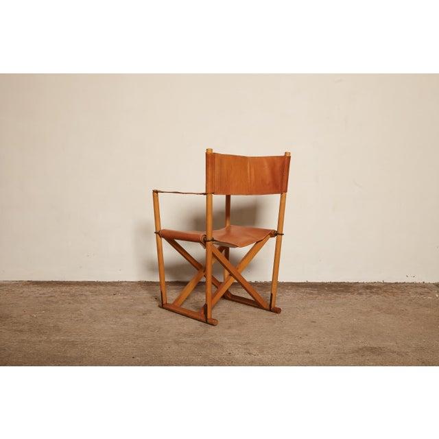 Mid-Century Modern 1960s Vinage Mogens Koch Mk-16 Safari Chair for Interna, Denmark For Sale - Image 3 of 7