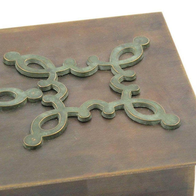 Mid-Century French Modernist Decorative Lidded Brass Box - Image 6 of 9