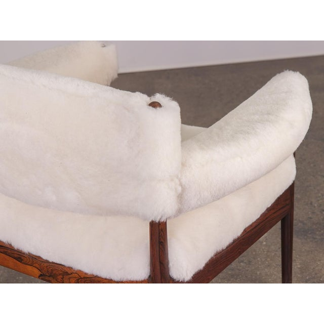 1960s Kristian Vedel Sheepskin Modus Lounge Chairs - a Pair For Sale - Image 5 of 13