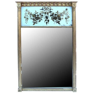 Early 19th Century Regency Gilded and Eglomise Pier Mirror For Sale