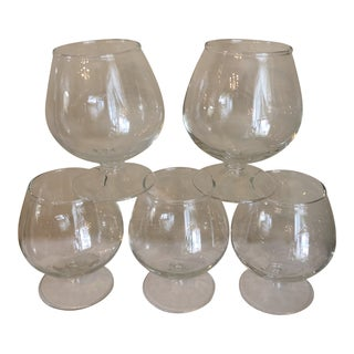 1970s Vintage Glass Cordials- Set of 6 For Sale
