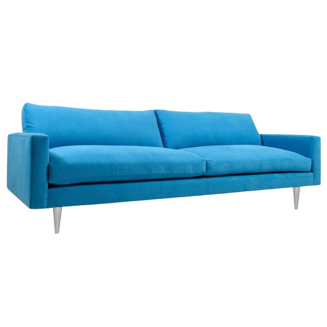 Modern Mid-Century Style Raven Sofa For Sale