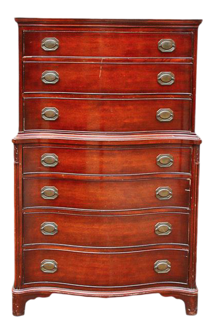 Morganton Vintage Hepplewhite Style Mahogany Chest Of Drawers