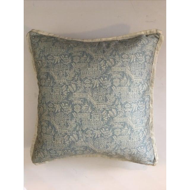 Ralph Lauren Blue & White Pagoda Throw Pillow - Image 2 of 6