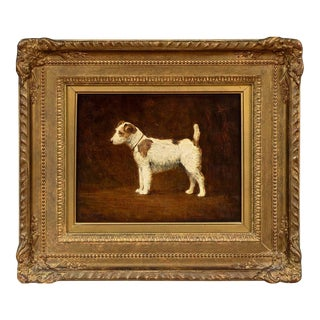 Dog Portrait of a Jack Russell Terrier by Harry Clifford Pilsbury (British, 1870-1925) For Sale