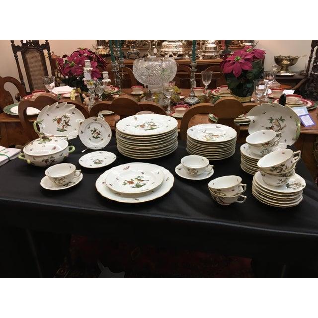 "Herend ""Rothschild Bird"" China Dining Set - Image 3 of 4"