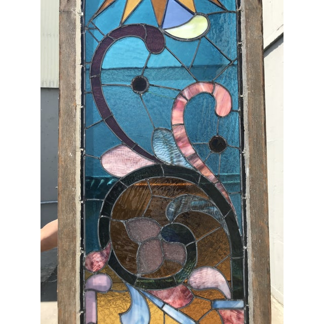 Gothic Antique Stained Glass Window, Circa 1900s For Sale - Image 3 of 12