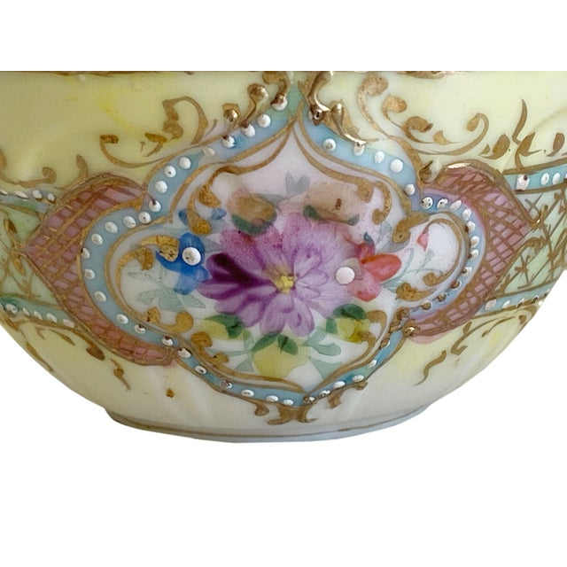 Victorian Antique Hand Painted Floral Tea Cup For Sale - Image 3 of 5
