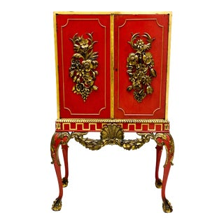 French Neo-Classical Carved Giltwood Bar / Cabinet For Sale