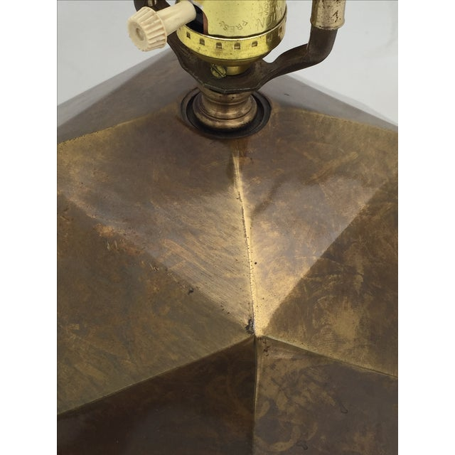 Bronzed Geometrical Lamp by Westwood - Image 5 of 9
