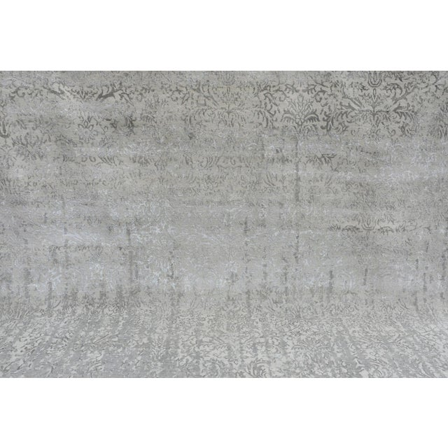 Pasargad Bamboo Silk & Wool Rug - 8′1″ × 10′ For Sale - Image 5 of 6