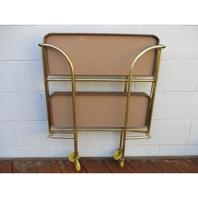 Folding Metal Bar Cart - Image 3 of 10