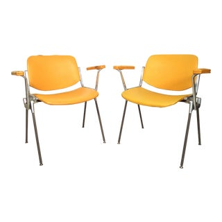 Pair of Vintage Industrial Castelli Chairs For Sale