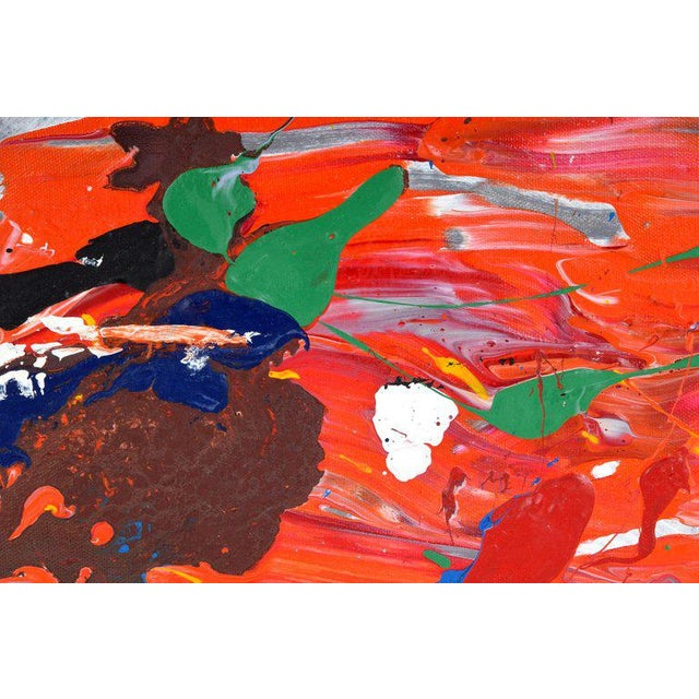 Acrylic Paint 1980s Abstract Painting by John Seery For Sale - Image 7 of 10